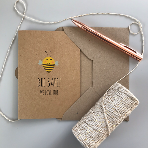 Bee Safe Card - Kraft