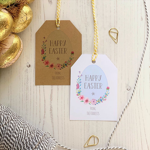 Easter Egg Personalised Gift Tags (x10)