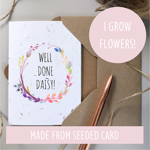 Well Done Card - Seeded