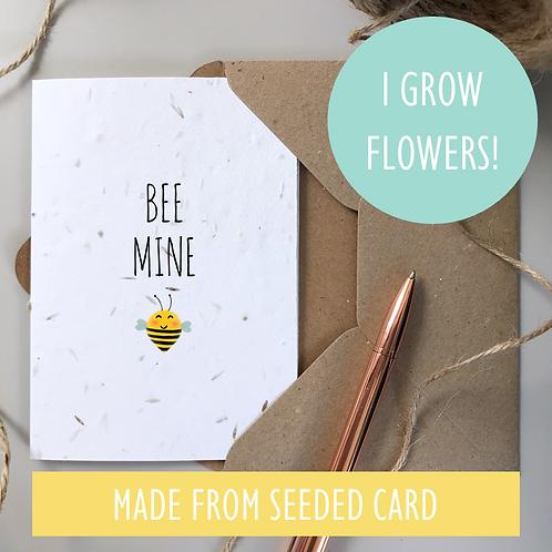 Bee Mine Card - Seeded