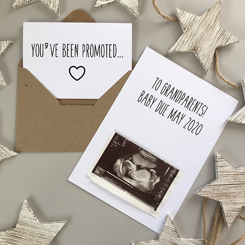 YOU'VE BEEN PROMOTED PREGNANCY REVEAL - WHITE