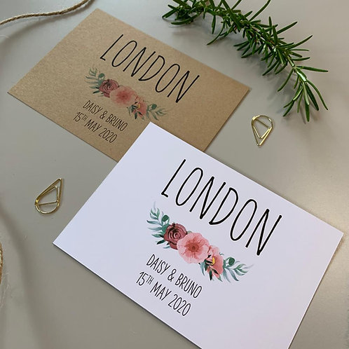 Floral Blush Table Name Sign