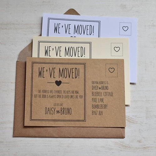 We've Moved House / New Address Cards