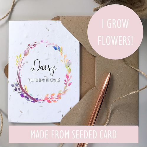 Bridesmaid Proposal Card - Boho Seeded