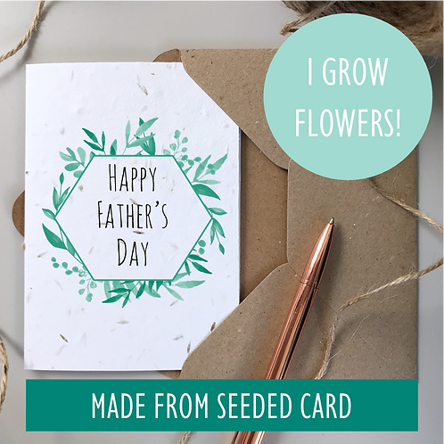 Foliage Father's Day Card - Seeded