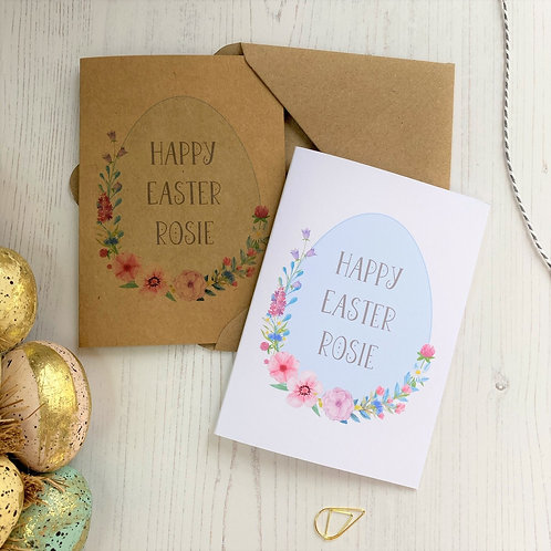 Personalised Easter Egg Card
