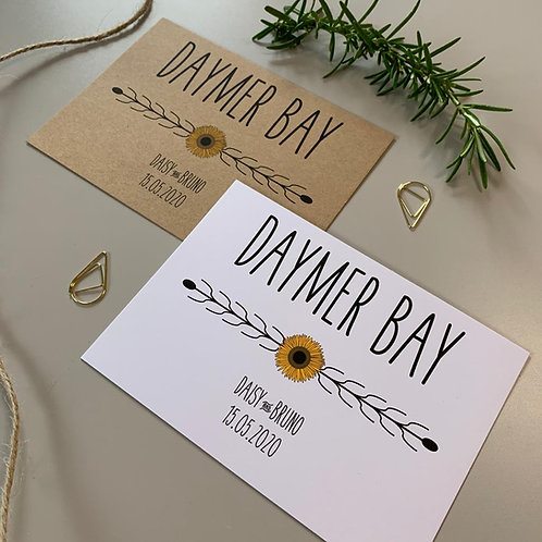 Sunflower Table Name Sign