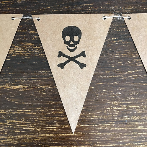 Bunting, Skull and cross bone, Kraft