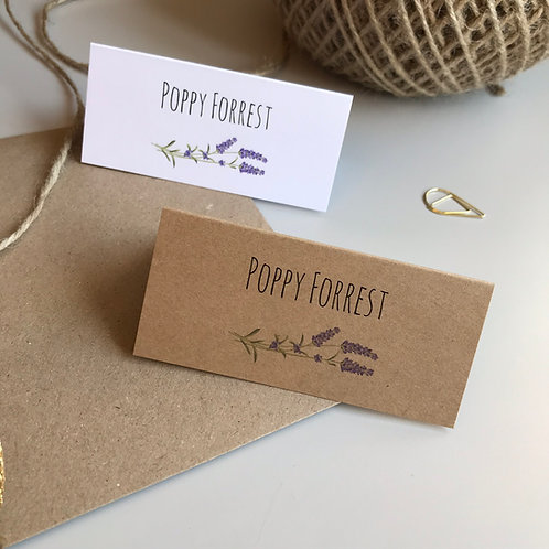 Lavender Place Name Cards
