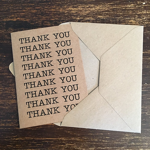 Thank you cards, Kraft, Thank you Thank you