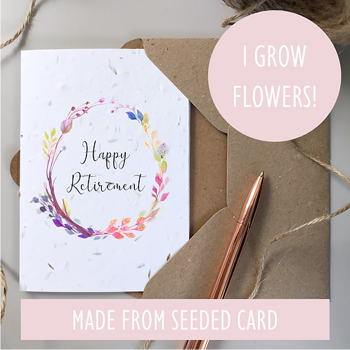 Happy Retirement Card - Seeded