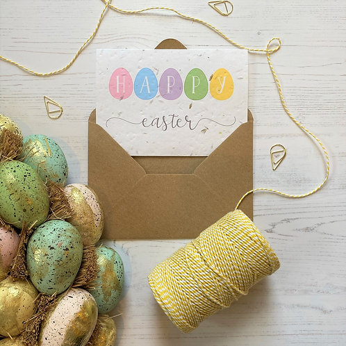 Happy Easter Seeded Card