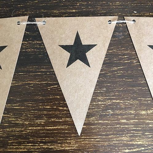 Bunting, Star, Kraft