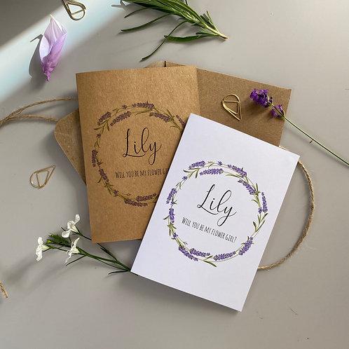 Bridesmaid Proposal Card - Lavender
