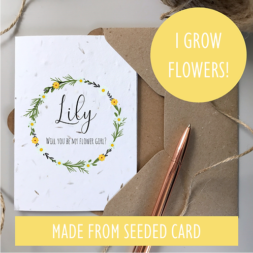 Bridesmaid Proposal Card - Daisy Seeded