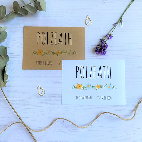 Daisy Wildflower Table Name Sign