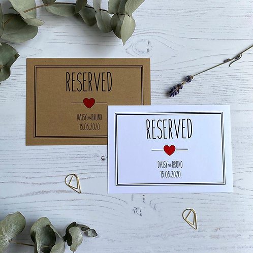Rustic Heart Reserved Sign
