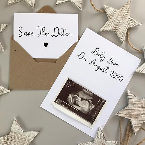 SAVE THE DATE SCRIPT - WHITE