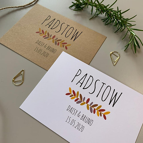Autumn Table Name Sign