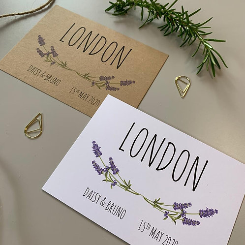 Lavender Table Name Sign