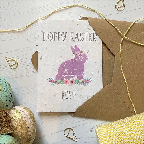 Personalised Hoppy Easter Card