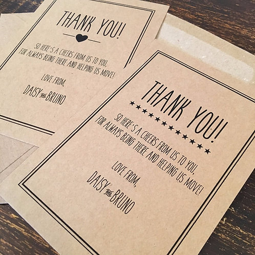 Moved / Moving House Thank You Cards
