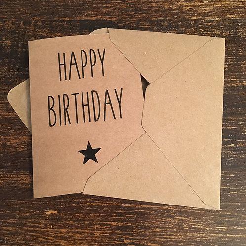 Birthday Card, Happy Birthday, Black Star