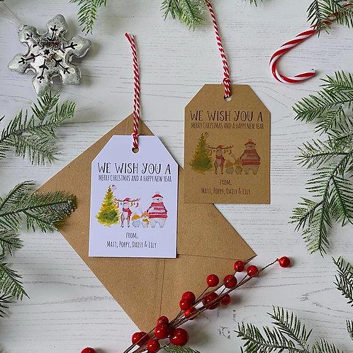 Personalised Woodland Animal Christmas Gift Tags (X10)
