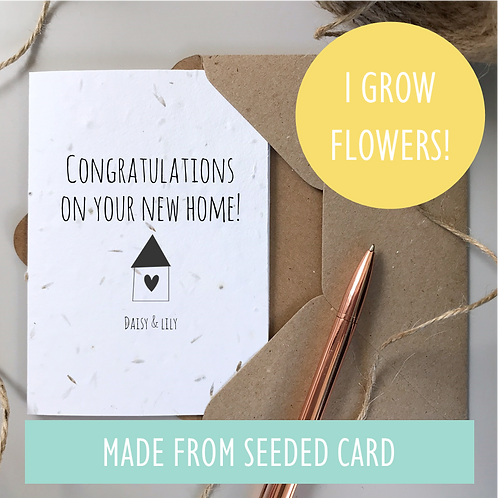 Personalised New Home Card - Seeded