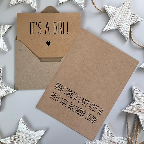 IT'S A GIRL! - KRAFT