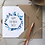 Thumbnail: Personalised Blue Foliage Happy Birthday Card - Seeded Card