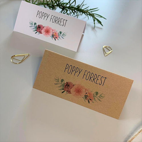 Floral Blush Place Name Cards