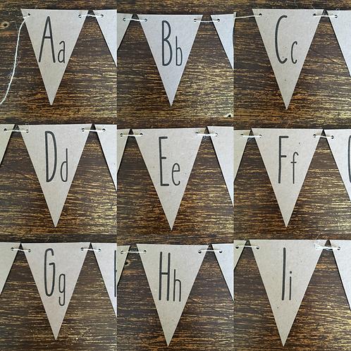Bunting, Alphabet, Kraft