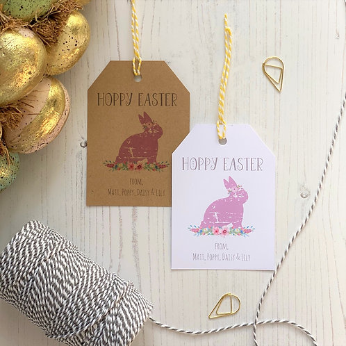 Hoppy Easter Personalised Gift Tags (x10)