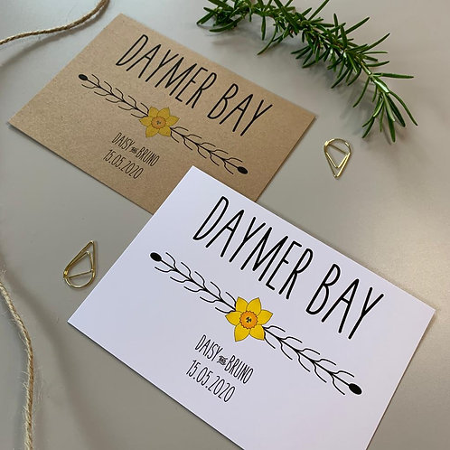 Daffodil Table Name Sign