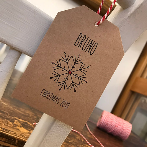 Christmas Place Setting Tags - Kraft