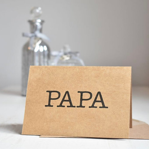Papa Typewriter Happy Father's Day Card