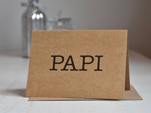 Papi Typewriter Happy Father's Day Card