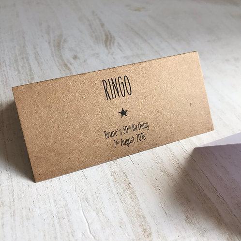 Star Place Name Cards, Kraft