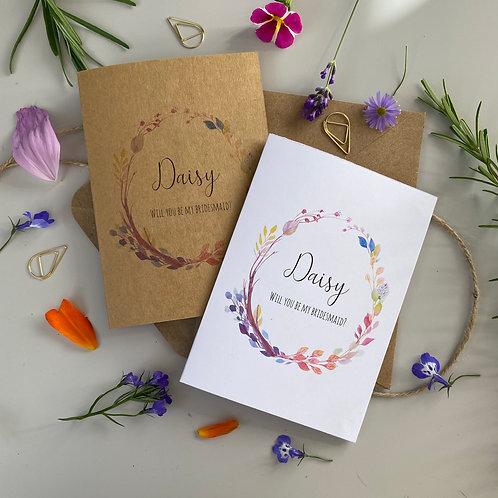 Bridesmaid Proposal Card - Boho