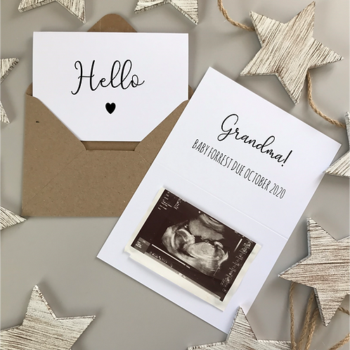 HELLO PREGNANCY REVEAL - WHITE