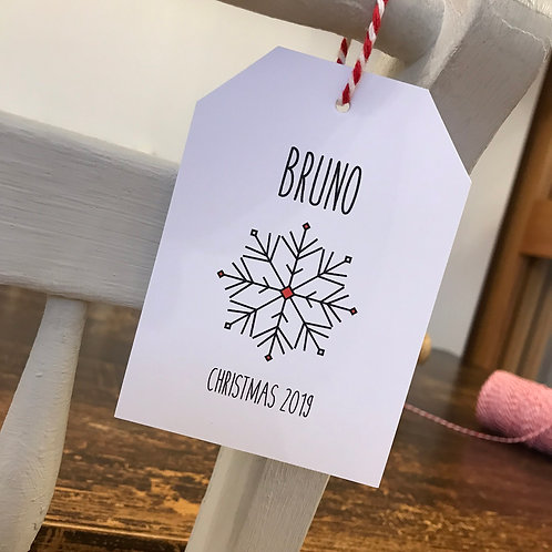 Christmas Place Setting Tags - White