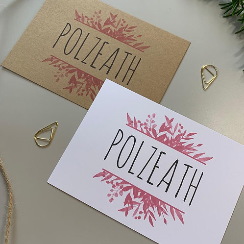 Pink Foliage Table Name Sign