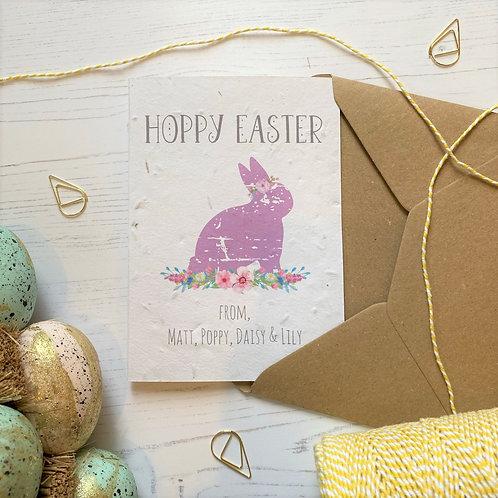 Family Personalised Hoppy Easter Card