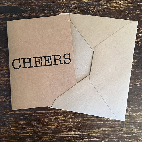 Thank you cards, Kraft, Cheers
