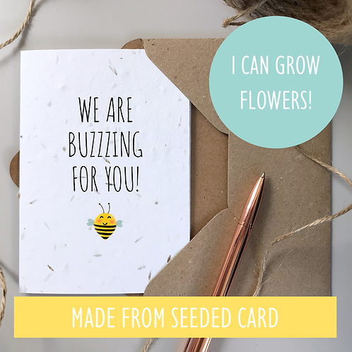 We are Buzzing for You - Bee Congratulations - Seeded Card