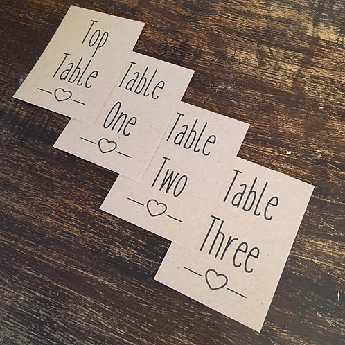Table Number Sign A6