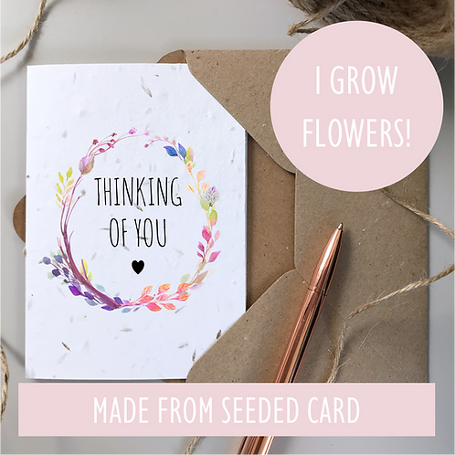 Thinking of You Condolences Card - Seeded