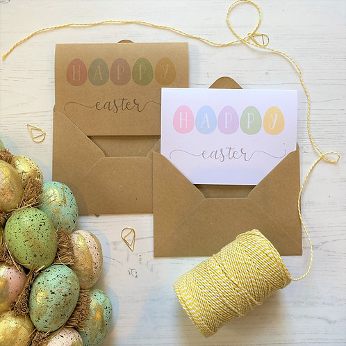 Happy Easter Egg Cards  (10 pack)