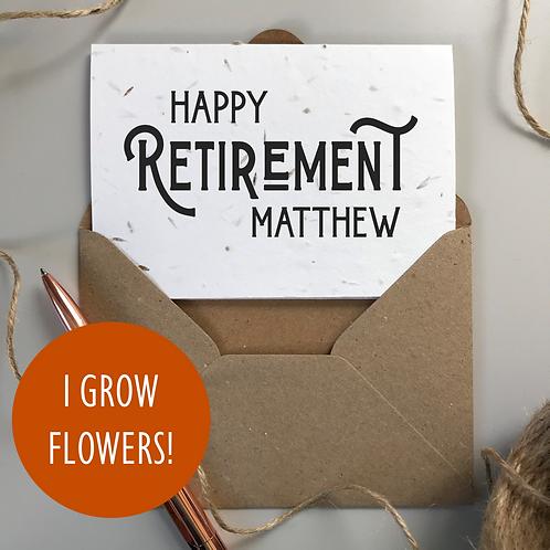 Men's Happy Retirement Card - Seeded